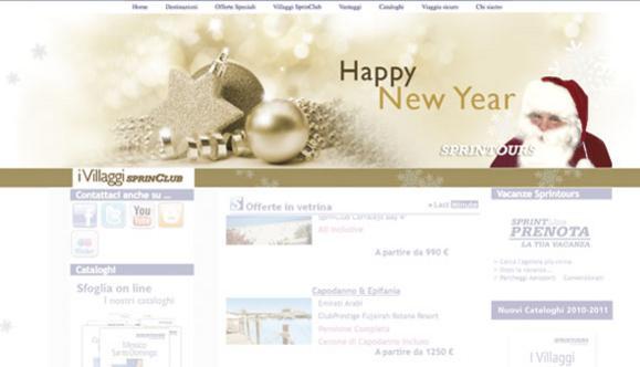 Personalizzazione natalizia della home page Sprintours