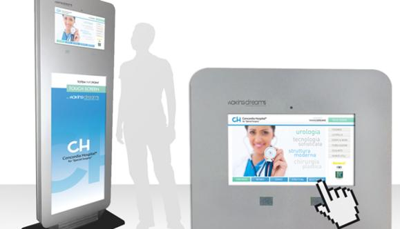 Totem Infopoint con monitor Touch Screen 20''