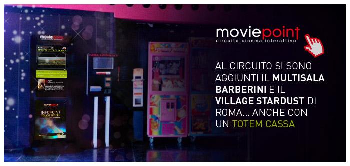 Installazioni Totem nei Cinema Lux - Barberini - Stardust