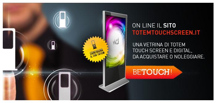 Lancio sito web Totemtouchscreen.it