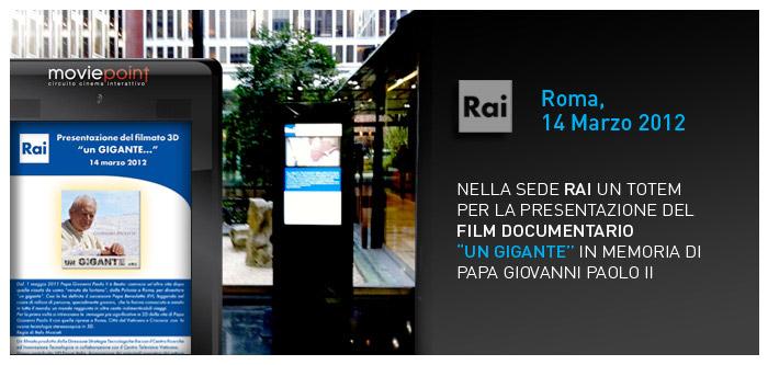 """Presentazione del Film Documentario """"Un Gigante"""""""