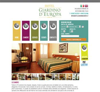Progettazione grafica logo e realizzazione sito - Hotel giardino d europa roma rm ...