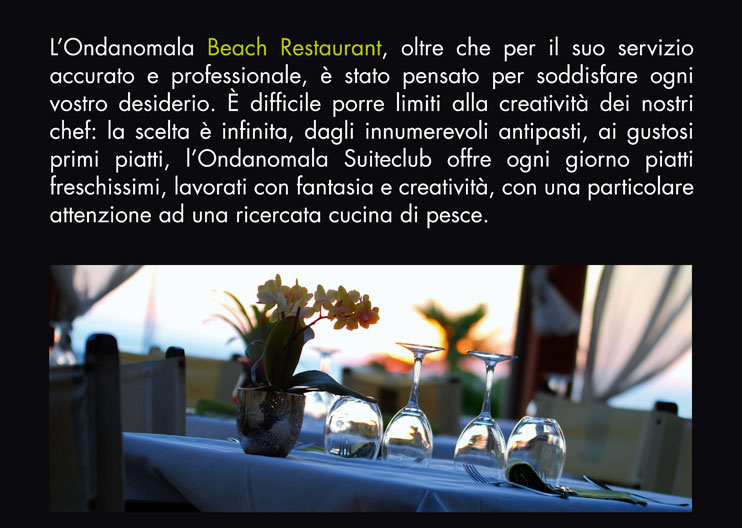 Totem Touch Screen 20'' posizionati in 11 Centri Ondanomala Beach Club di Roma